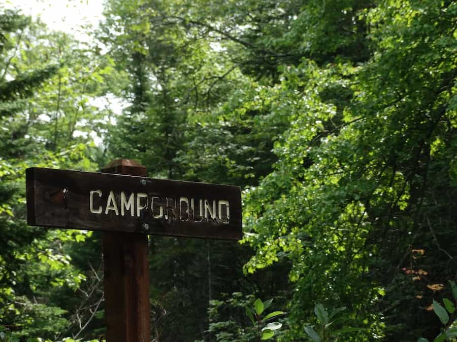 campground sign for national forest camping