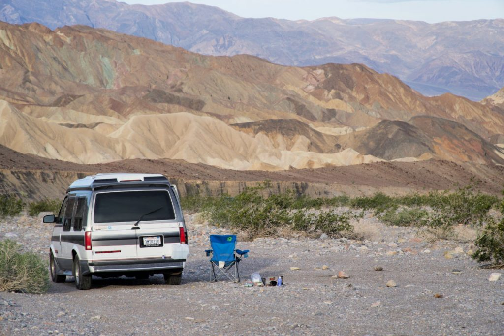 campervan boondocking in Death Valley National Park