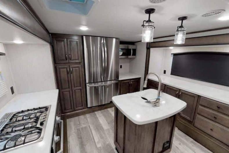 Forest River front kitchen fifth wheel floor plan