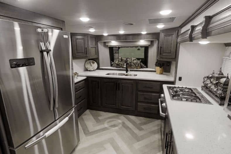 Heartland Big Country front kitchen fifth wheel kitchen view