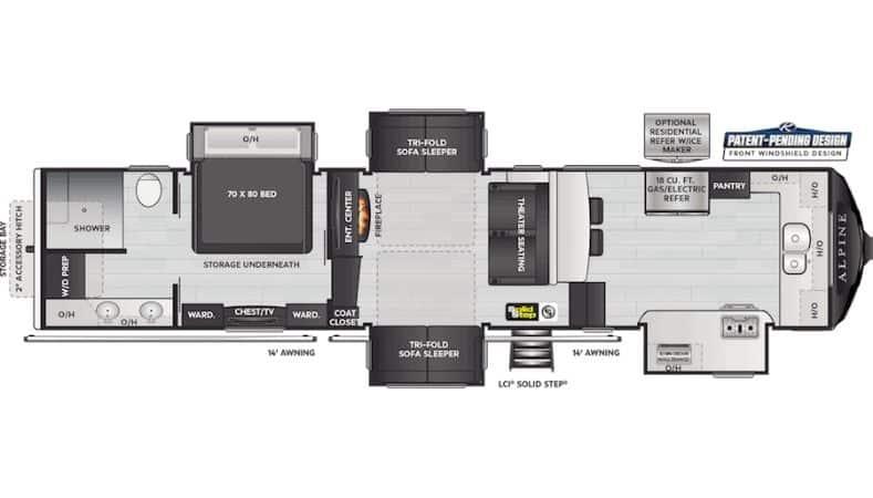 Keystone Alpine Floorplan
