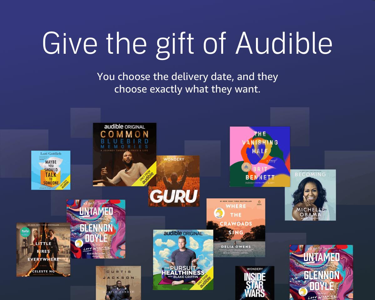 Amazon.com   Audible Gift Memberships