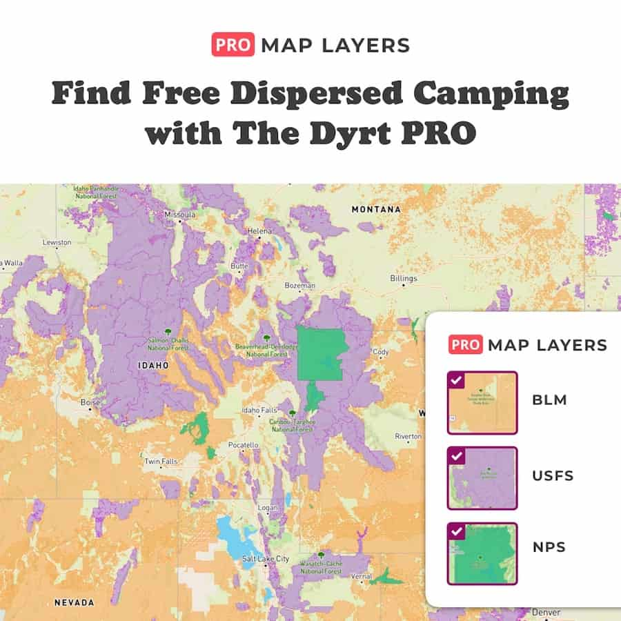The Dyrt Pro Map Layers is a perk in our The Dyrt Pro Review