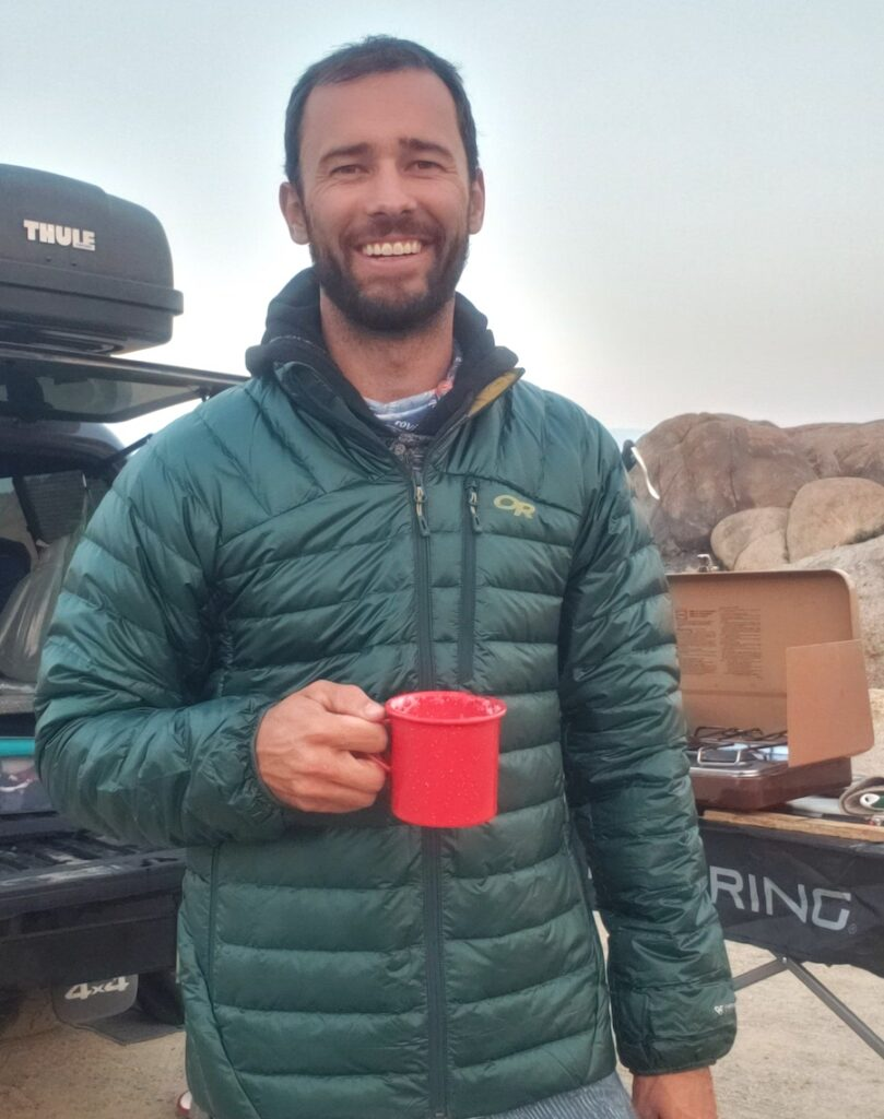 Picture of Tucker Ballister camping