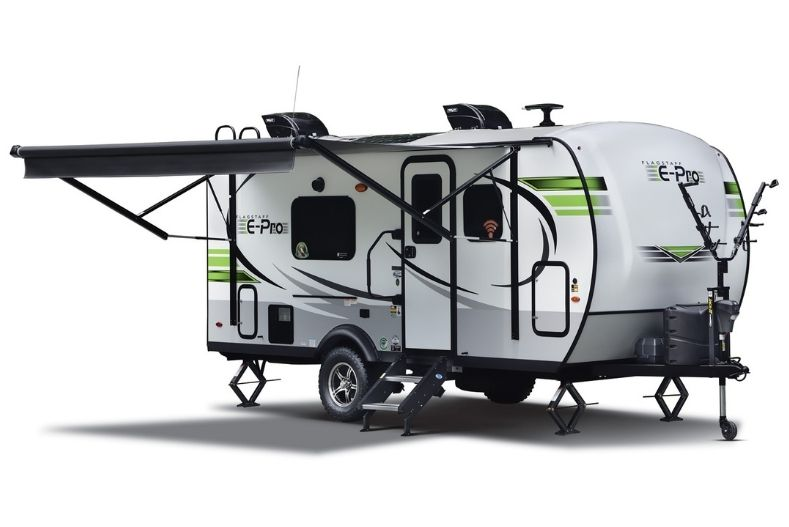Forest River Flagstaff E-Pro exterior with awning