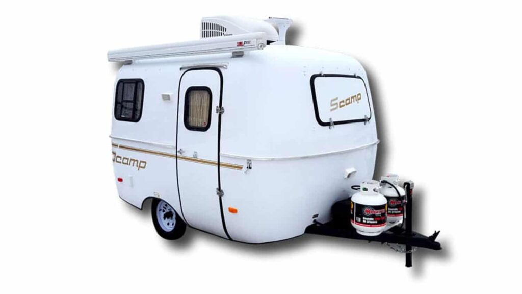 scamp deluxe camper trailer with bathroom