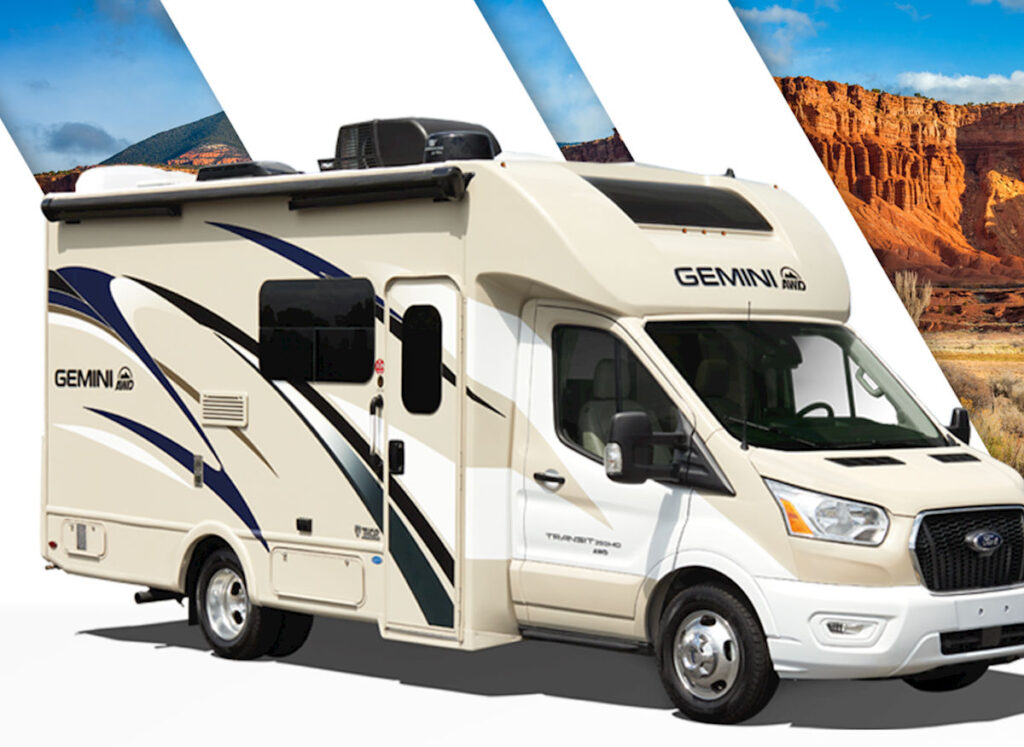 Thor Motorcoach Gemini is one of the smallest RVs with a bathroom