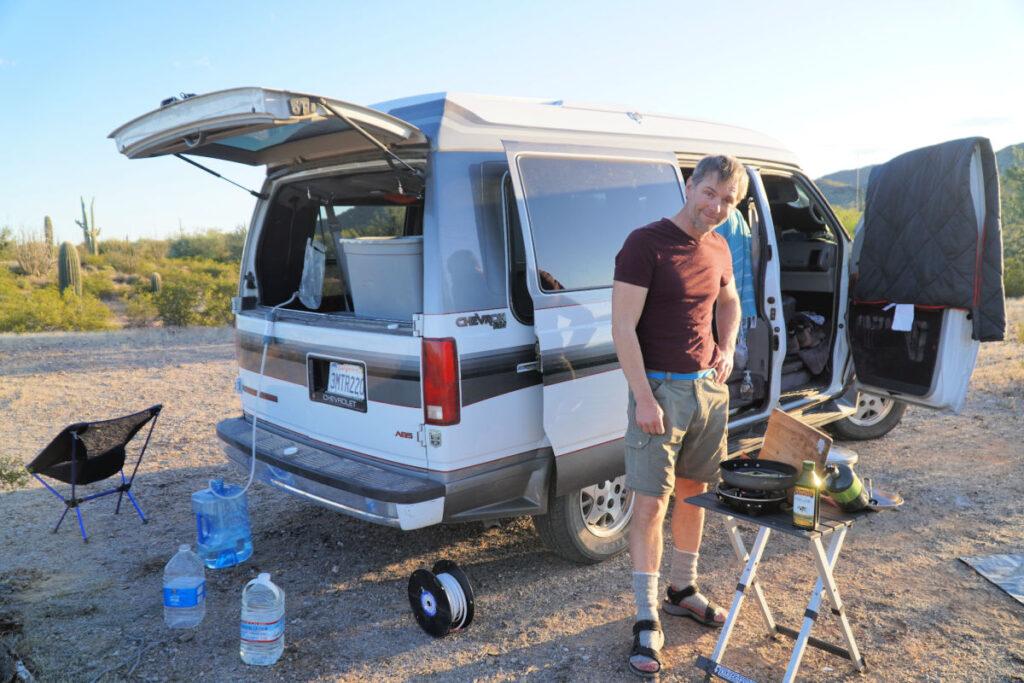 campervan with boondocking essentials