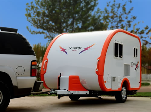 ICamp tiny travel trailer with toilet. and shower