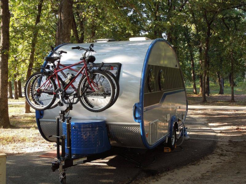Teardrop Trailer Bike Rack