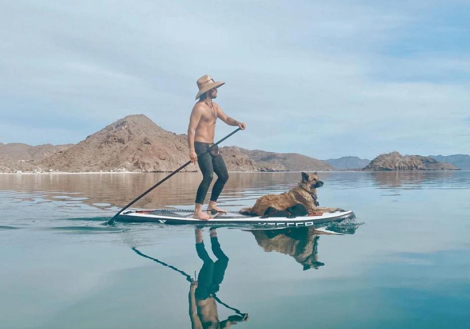 Man paddleboarding in Baja
