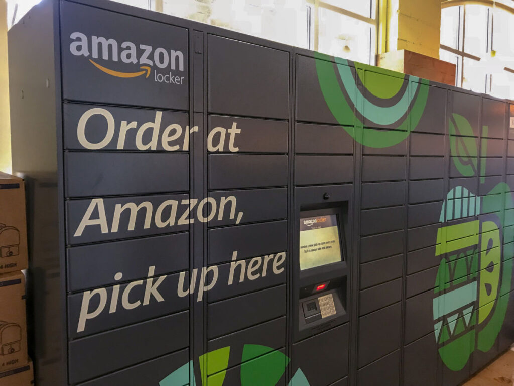 Amazon lockers are a great way to get packages while on the road fulltime