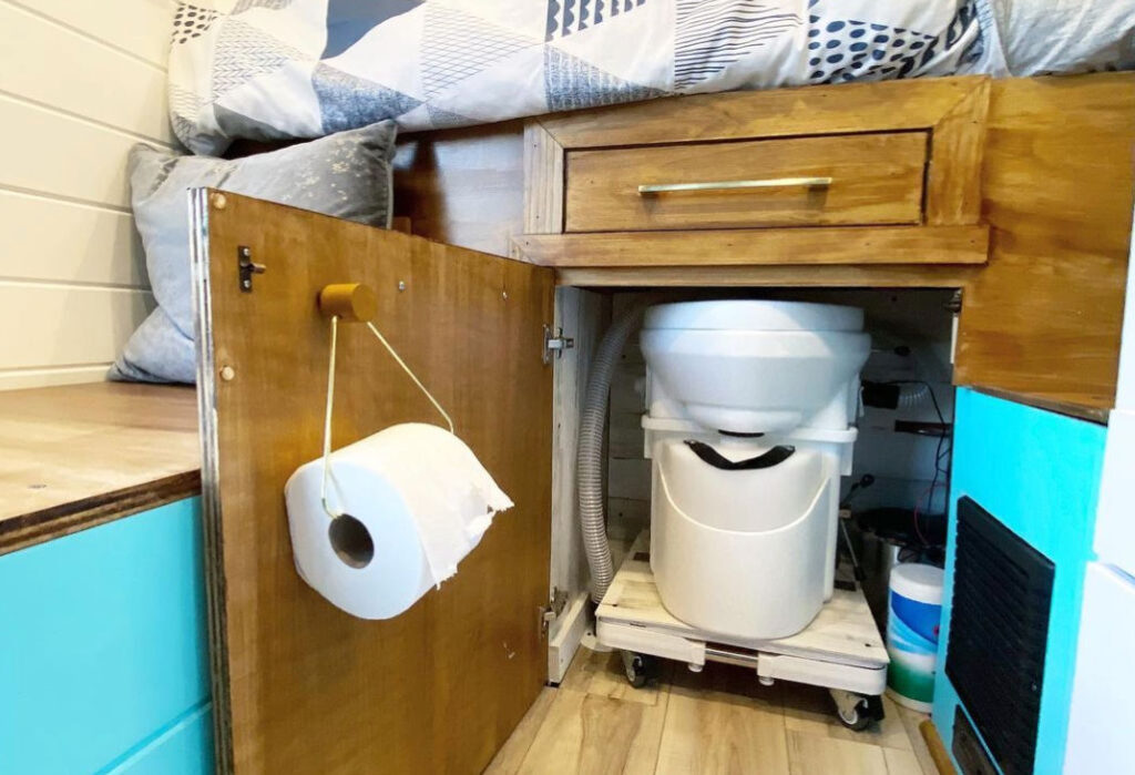 Nature's Head best composting toilet for campervan under the bed
