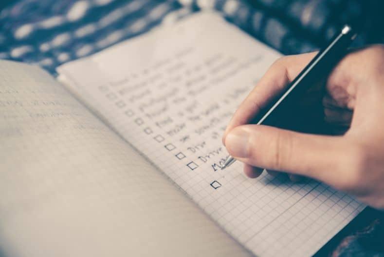 A checklist on graph paper