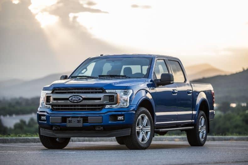 Ford blue half ton truck