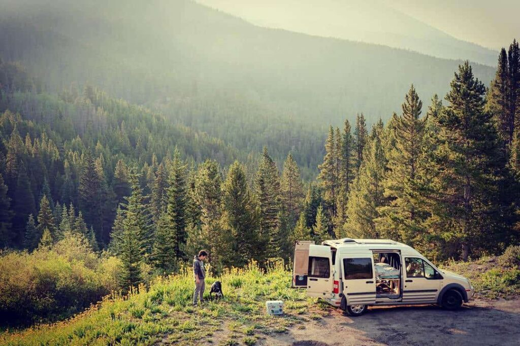 Ford Transit Connect stealth camping van