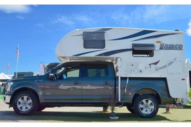 Lance half ton truck camper on pickup truck