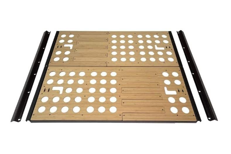 Panel Bed's wooden bed frame for cargo van conversions